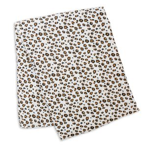 LJ162 Lulujo Leopard Single Swaddle