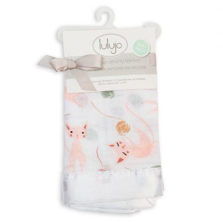 LJ079 Lulujo Kitty Cotton Security Blankets