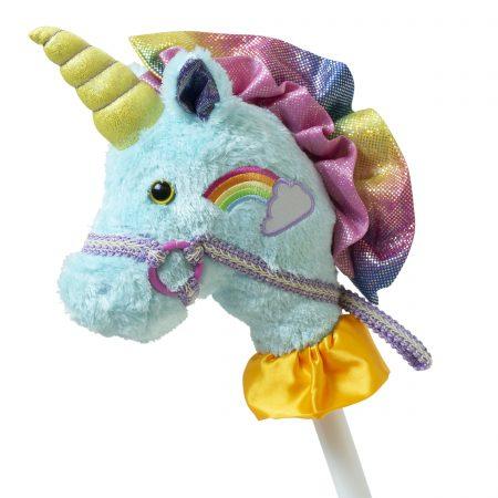15770 Fancy Prancer Unicorn 2-Piece Stick Horse