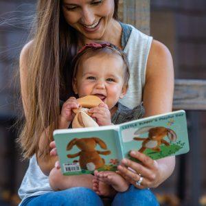 26101 26103 Leika Little Bunny Board Book Teether