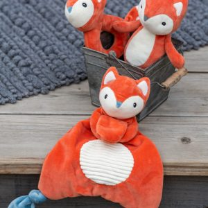 Leika Fox Lovey Rattle Soft Toy