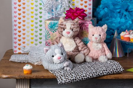 cozy toes kitty, marshmallow cleo kitty, putty nursery kitty