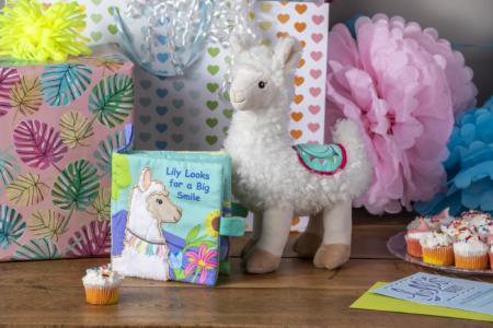 lily llama soft toy, book