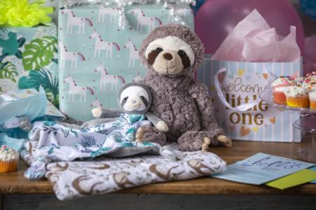 little knottie sloth, putty grey sloth