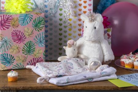 little knottie unicorn, fabfuzz flurry unicorn