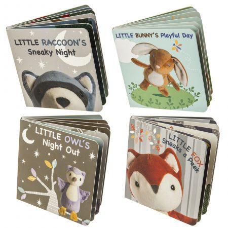 Leika Board Book Raccoon Bunny Owl Fox