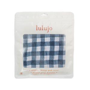 LJ722 Lulujo Change Pad Cover - Navy Gingham