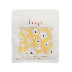 LJ725 Lulujo Change Pad Cover - Yellow Wildflowers