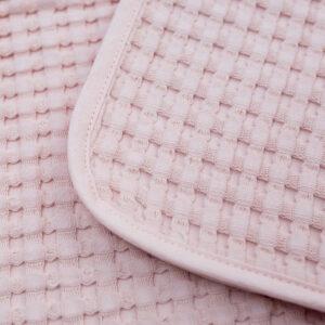 LJ757 Lulujo Waffle Blanket - Ballet Slipper