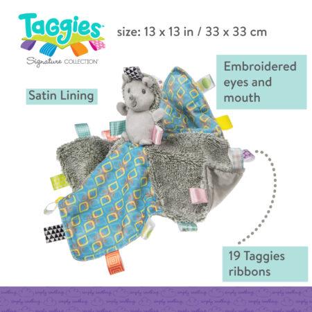 Taggies Heather Hedgehog Character Blanket