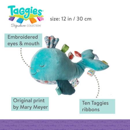 Taggies Sleepy Seas Whale Soft Toy