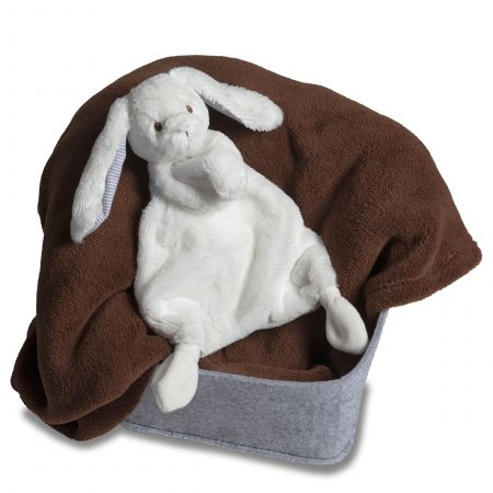 41780 Silky White Bunny Lovey