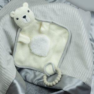 44334 Knitted Nursery Polar Bear Lovey